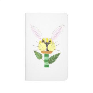 Häschen-Blumen-Taschen-Zeitschrift Taschennotizbuch