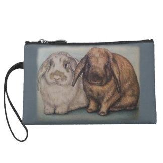 Häschen, das Kaninchen-Tier-Kunst zeichnet Kleine Clutch