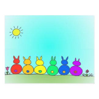 Häschen-Familien-Postkarte Postkarte
