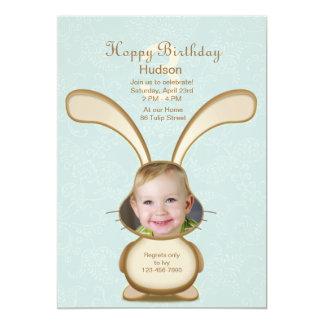 Häschen-Geburtstags-Foto-Einladung 12,7 X 17,8 Cm Einladungskarte