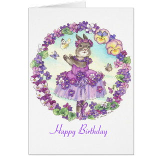 Häschen-Geburtstagskarte Karte