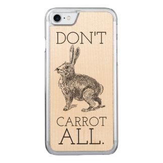 """Häschen-Hasen """"tun nicht Karotte aller"""" iPhone 7 Carved iPhone 8/7 Hülle"""