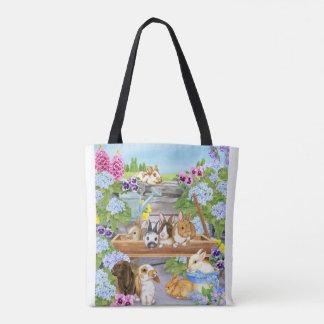 Häschen im Garten Tasche