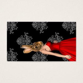 Häschen im roten Kleid Visitenkarte
