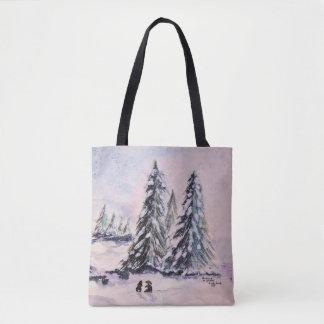 Häschen in der Winter-Taschen-Tasche Tasche