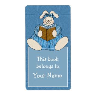 Häschen-Kaninchen-Lesung im blauen Versandetikett