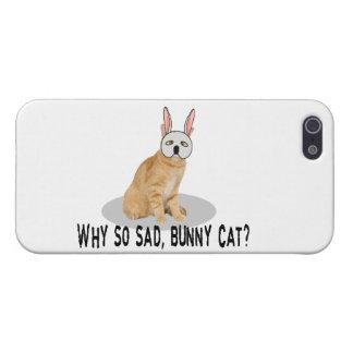 Häschen-Katze traurig iPhone 5 Schutzhüllen