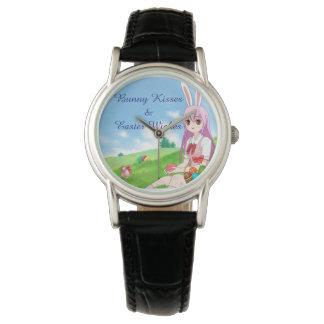 Häschen-Küsse u. Ostern wünscht (kundengerecht) Armbanduhr