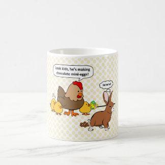 Häschen lässt Schokolade lustigen Cartoon kacken Kaffeetasse