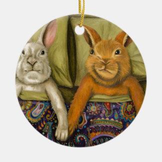 Häschen-Liebe Keramik Ornament
