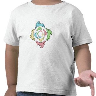 Häschen-Mandala in vier Pastellfarben Tshirt