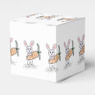 Häschen mit einer Karotte Geschenkschachtel