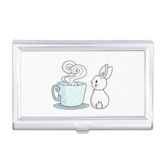 Häschen mit einer Tasse Tee Visitenkarten Etui