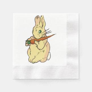 Häschen mit Karotte Serviette