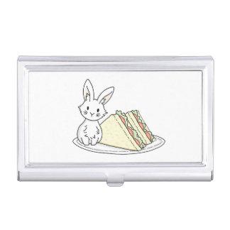 Häschen mit Sandwichen Visitenkarten Dose