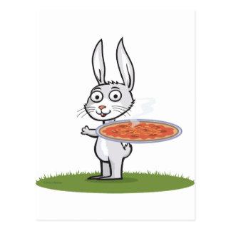 Häschen-Pizza Postkarte