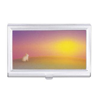 HÄSCHEN Sonnenaufgang-niedliches Kaninchen Visitenkarten Etui