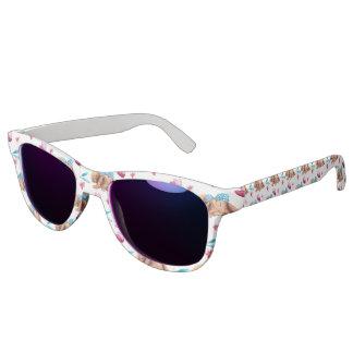 Häschen-Süsse-Polkapunkt-Bogenmuster Sonnenbrille