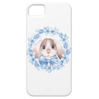 Häschen und blauer Kranz iPhone 5 Etui