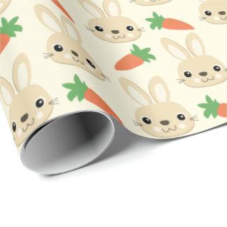 Häschen-und Karotten-Ostern-Muster Geschenkpapier