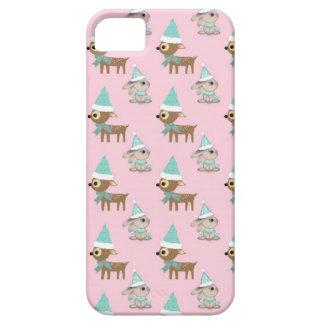 Häschen und Ren über blassem - rosa Etui Fürs iPhone 5