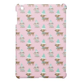 Häschen und Ren über blassem - rosa iPad Mini Hülle