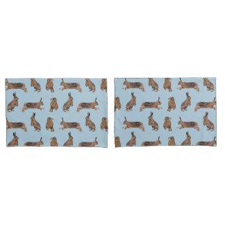 Hase-Raserei-Kissenbezug (Blau/Marine) Kissen Bezug