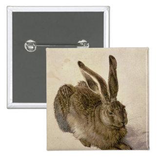 Hasen, 1502 quadratischer button 5,1 cm