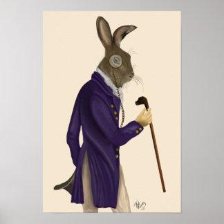 Hasen im lila Mantel Poster