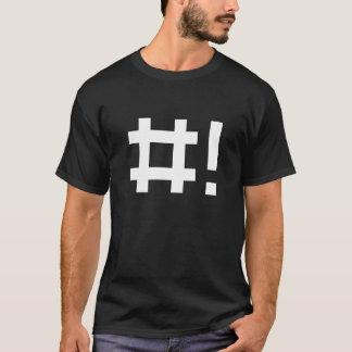 Hashbang - schwarzes Shirt für Befehlszeile Häcker
