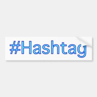 Hashtag Autoaufkleber