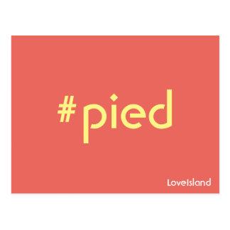Hashtag gescheckte Liebe-Insel-Postkarte Postkarte