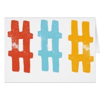 hashtag Grußkarte