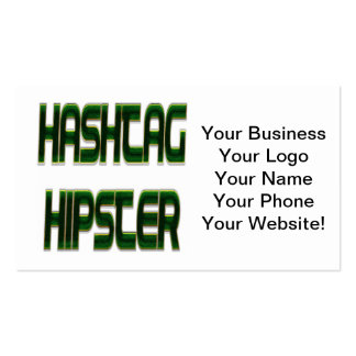 Hashtag Hipster-Grün Visitenkarten