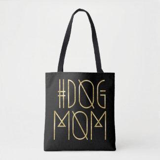 Hashtag Hundemamma-Schwarzes und GoldTrendy Tasche