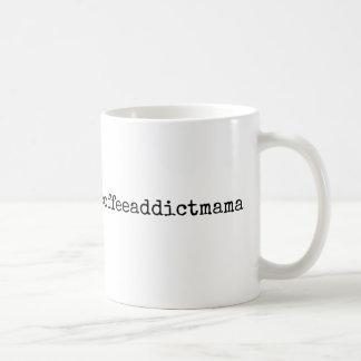 Hashtag Kaffee-Süchtig-Mutter Mug Kaffeetasse