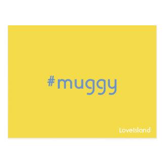 Hashtag Muggy Liebe-Insel-Postkarte Postkarte