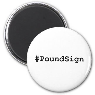 Hashtag Pfund-Zeichen Runder Magnet 5,7 Cm