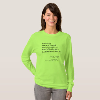 Hashtag recyceln sich Organ-Spender T-Shirt