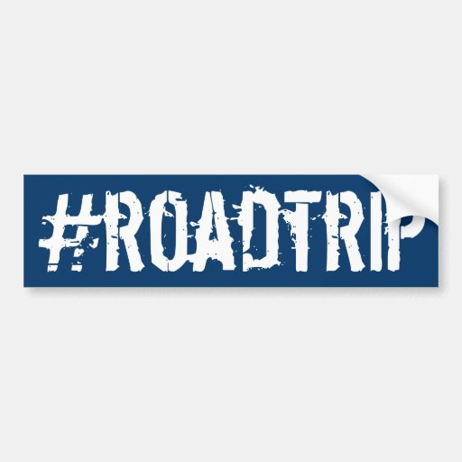 Hashtag roadtrip auto sticker