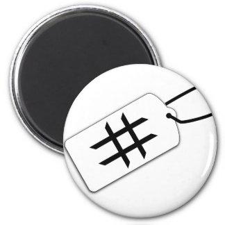 Hashtag Runder Magnet 5,1 Cm