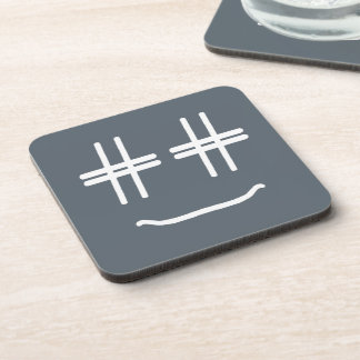 # Hashtag Smiley-Sozialmedienblogger-Spaß Getränkeuntersetzer