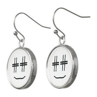 # Hashtag Smiley-Sozialmedienblogger-Spaß Ohrringe