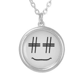 # Hashtag Smiley-Sozialmedienblogger-Spaß Versilberte Kette
