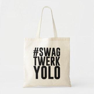 Hashtag Swag Twerk Yolo Budget Stoffbeutel