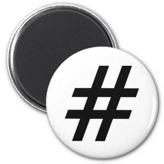 hashtag Textsymbolbuchstabe-Haschumbau Runder Magnet 5,1 Cm