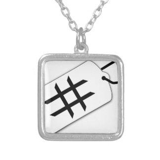 Hashtag Versilberte Kette