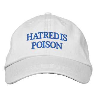 Hass ist Gift Blau-Buchstabe Hut