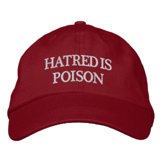 Hass ist Gift Weiß-Buchstabe Hut