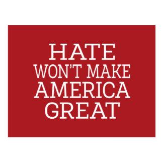 Hass macht Amerika nicht groß Postkarte